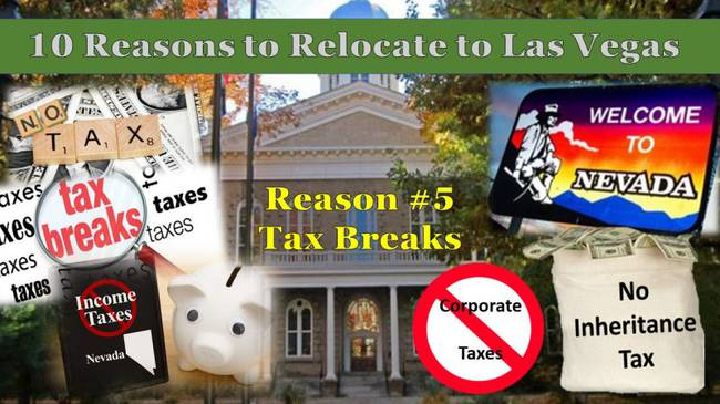 10 Reasons to relocate to vegas employment no inheritance tax