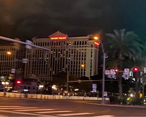 Caesars window art lockdown Las Vegas corona covid