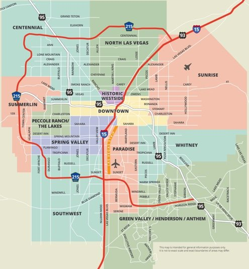 Las Vegas Valley Map