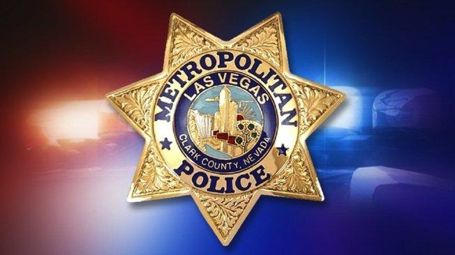 Shiny gold police metro badge star in Las Vegas Nevada tax