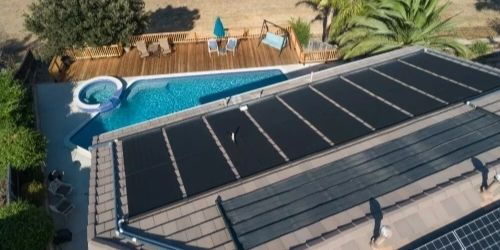 house with a pool in nevada solar heater