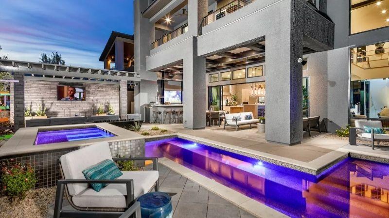 best gated communities in Las Vegas pool spa