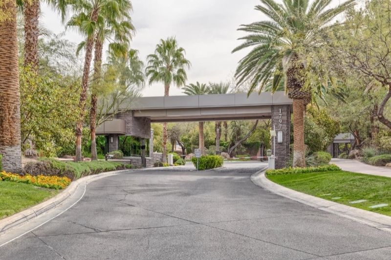 best gated communities in Las Vegas guard gated entrance Henderson homes for sale 55+ pool