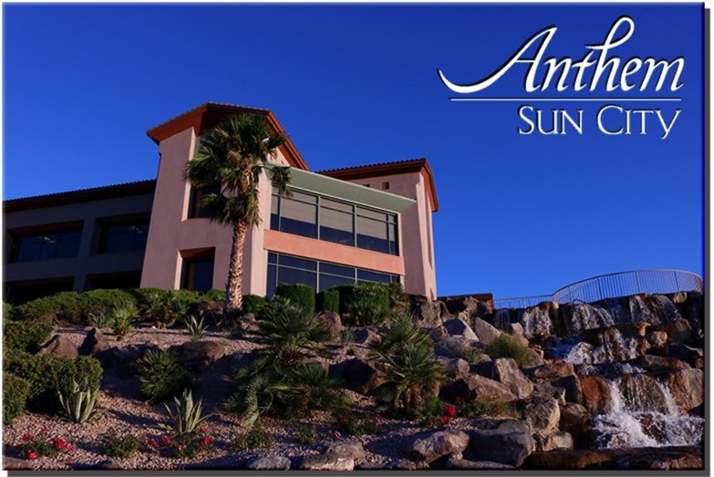 Sun City Anthem Clubhouse waterfall senior citizen center