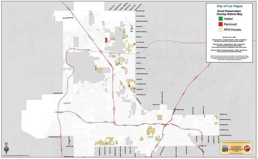 Rural Neighborhood Conservation 1/2 acre+ map Clark County