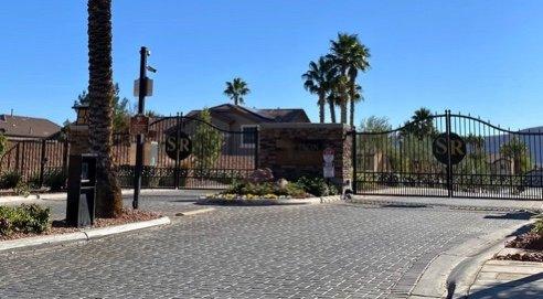 Southwest Las Vegas gated community with keypad and camera