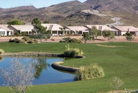 Del Webb Golf with homes mountain with trails lake 55+ community