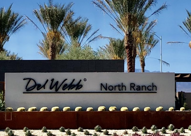 Del Webb at north ranch sign houses community retirement retirees