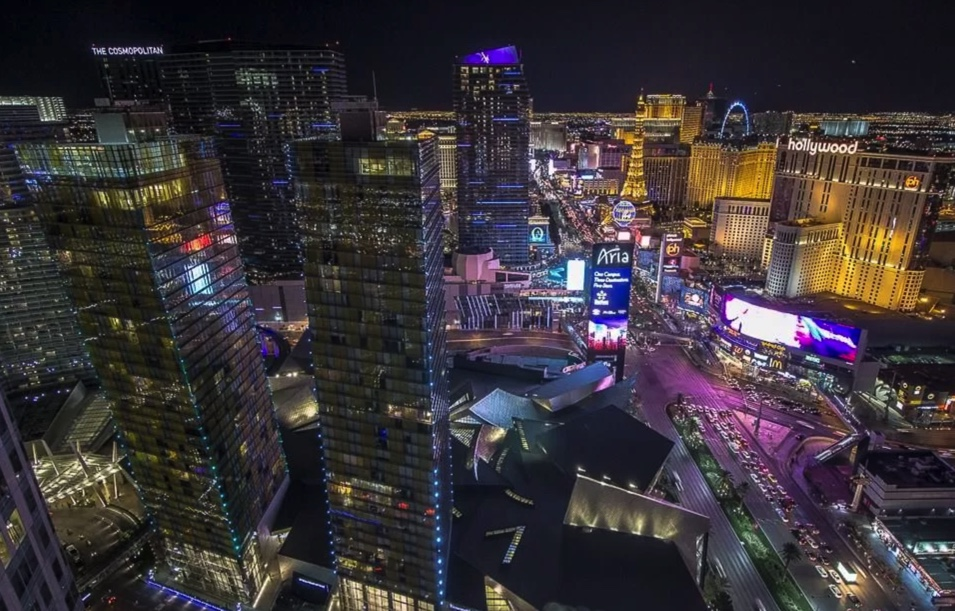 Living in Las Vegas Strip condominiums city center aria casino view harmon and LVB