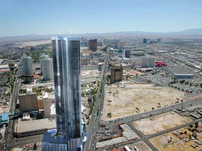 vacant land on Las Vegas Strip recession