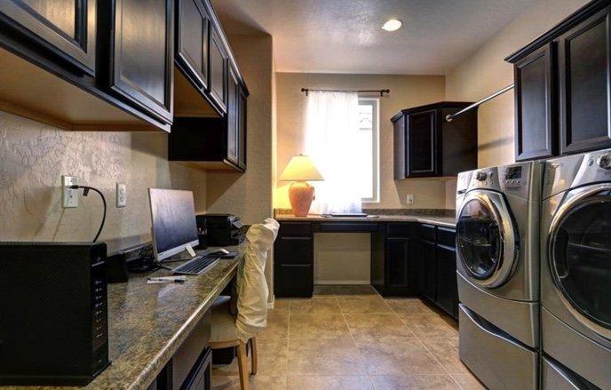 Bonus Room work space alternative laundry room design