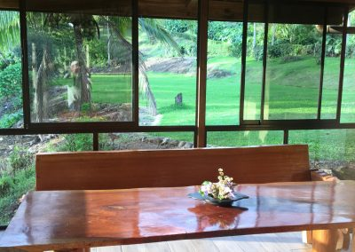 dining table lush view Costa Rica