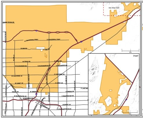 Map showing NLV borders with 1/2 of the land vacant