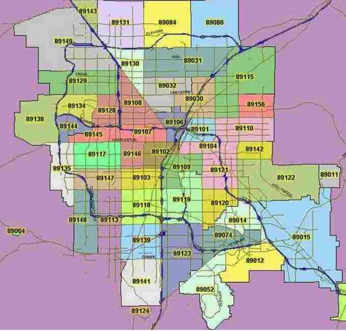 Zip Codes In Las Vegas Zip Codes Map